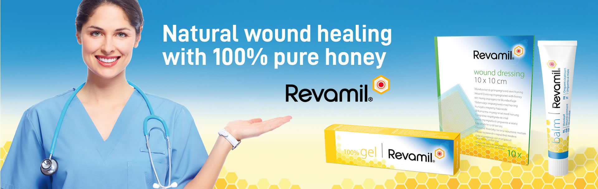 Revamil - Natural wound healing with 100% pure honey