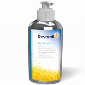 Revamil Gentle Hand Wash for dry and sore hands that need to be regularly washed