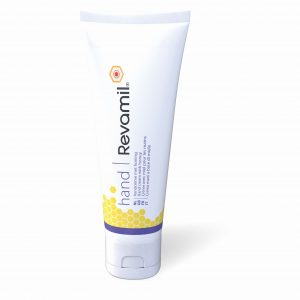 Revamil Hand Cream for sore and damaged hands. Contains 10% medical grade honey that offers an antimicrobial protection.