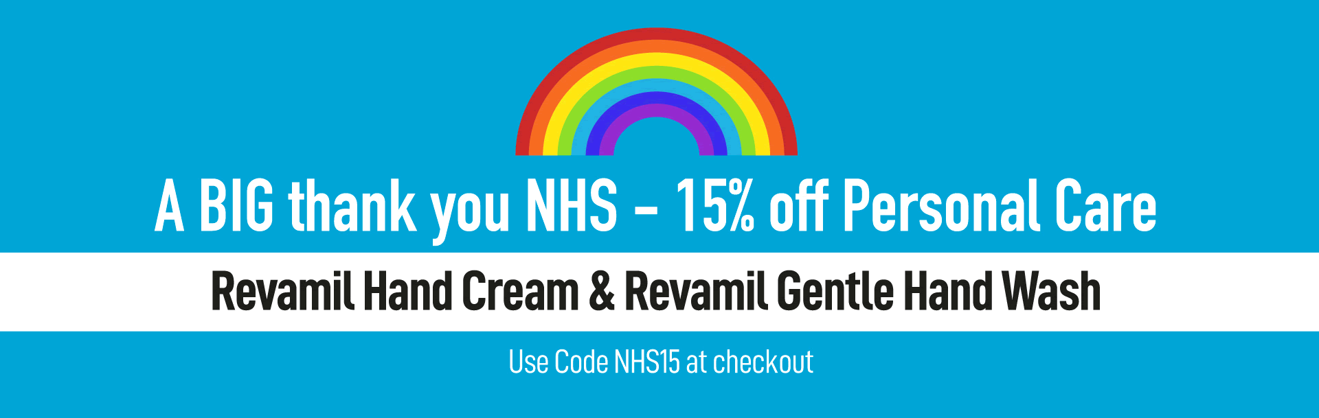 A BIG thank you NHS - 15% off Personal Care